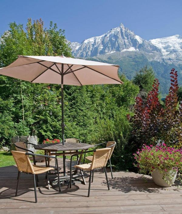Terrace in Summer with Mt Blanc
