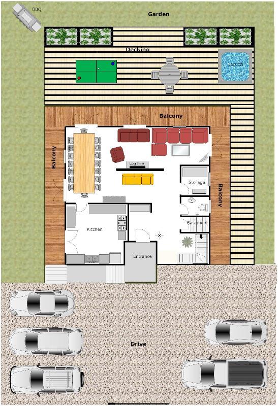 Ground floor/garden plan