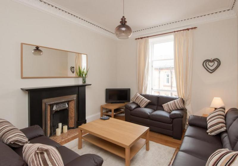 Spacious living room with ample seating for all guests