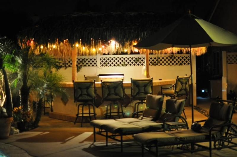 palapa bar at night