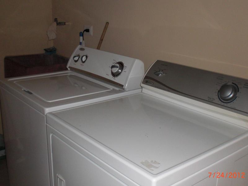 Laundry Room (washer, dryer, iron & ironing board).