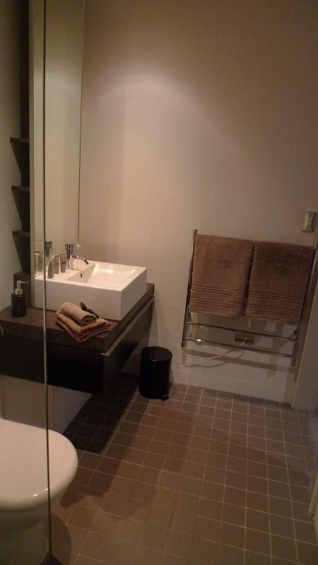Modern Bathroom with heated towel rail