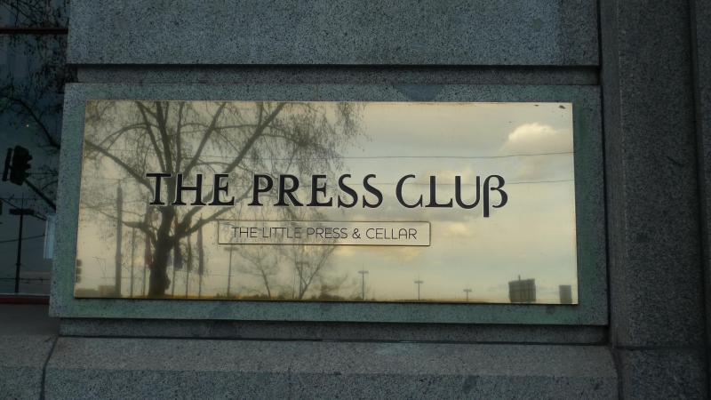 The iconic Press Club Restaurant at your doorstep