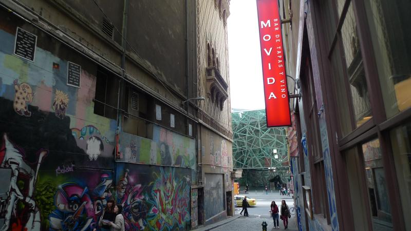 Enjoy great Spanish food at MoVida, only 5 minutes walk away