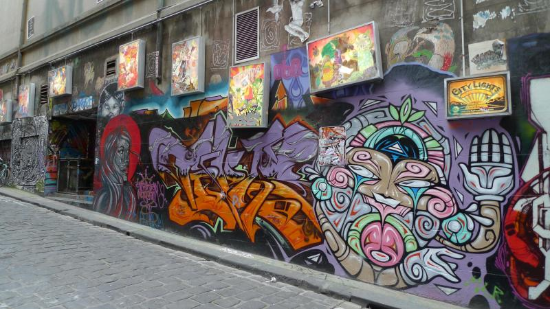 Immerse yourself in the famous street art of Hosier Lane