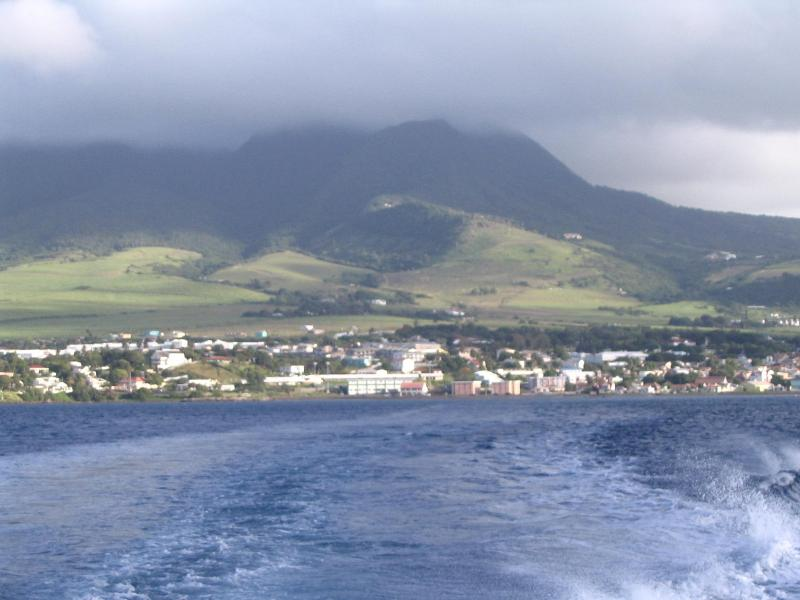 A view of Nevis from the local ferry coming from St.Kitts