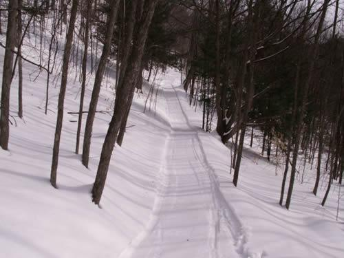 groomed snowmobile, snow shoe, or cross country ski trails!