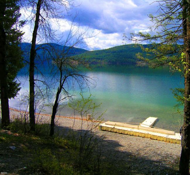 Private Beach on Whitefish Lake