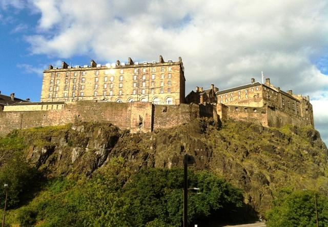 Edinburgh Castle Hill as seen from the Drawing Room windows