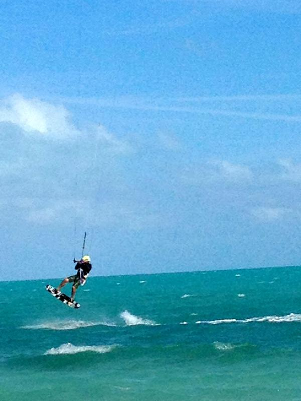 Long Bay Beach is home to many vacationers who enjoy Kite Boarding...