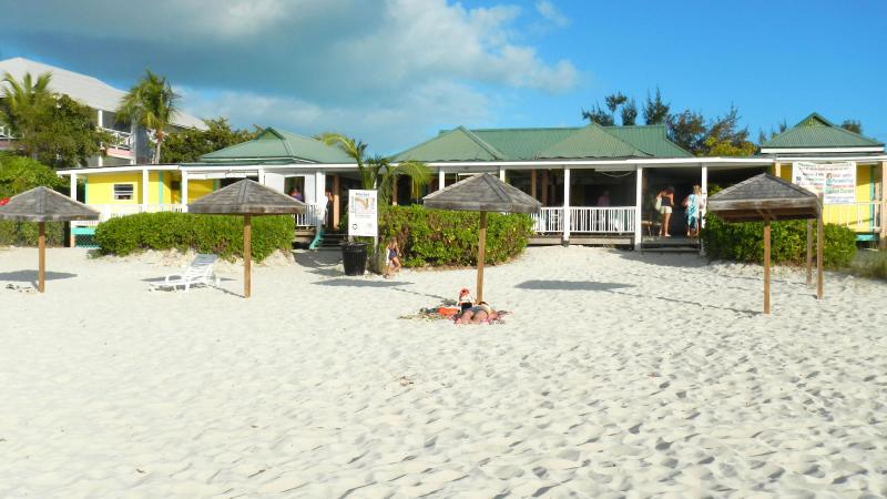 Flamingo Cafe in Grace Bays.  A hotspot for tourist to enjoy our evening sunset and happy hour!