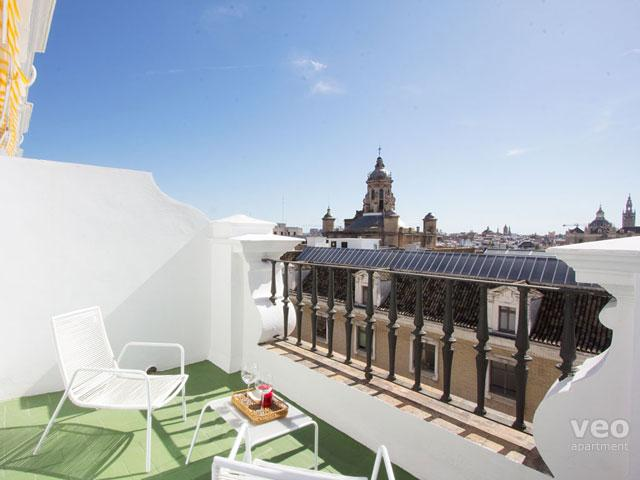 This 2-bedroom apartment features 2 private terraces with views.