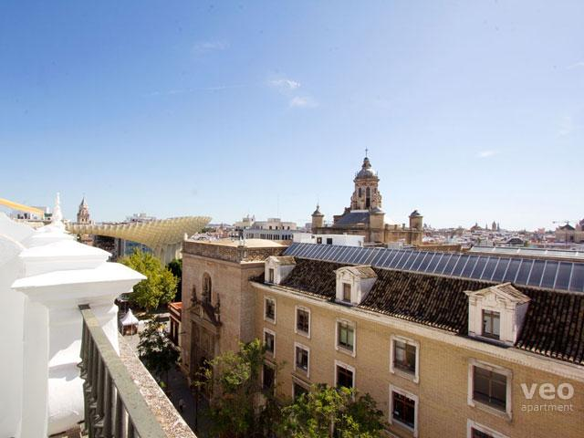 Terrace views - beyond is the Metropol Parasol.