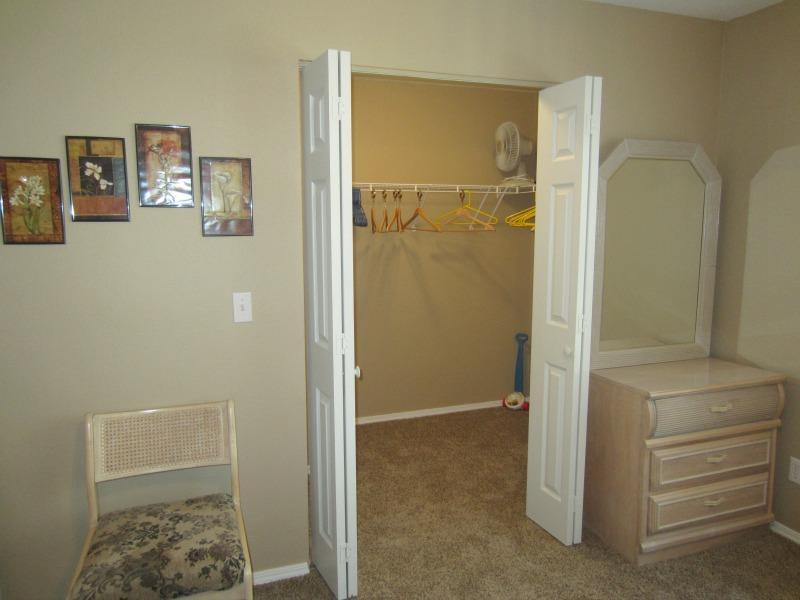 The guest bedroom also has a walk in closet