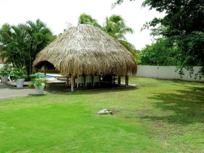 Palapa on the back lawn
