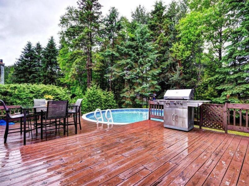 Pool, BBQ, large deck and table