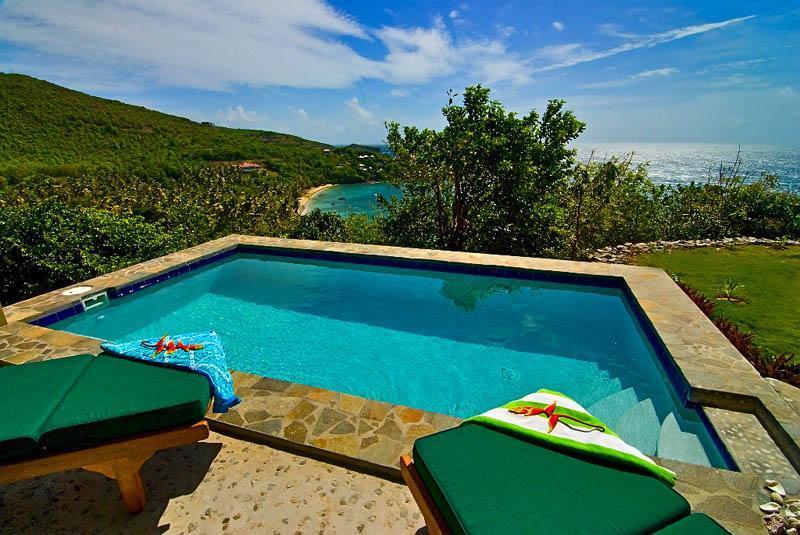 Lower level veranda and pool