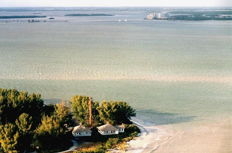 Sanibel Island Lighthouse (front) and the Resort in the rear.