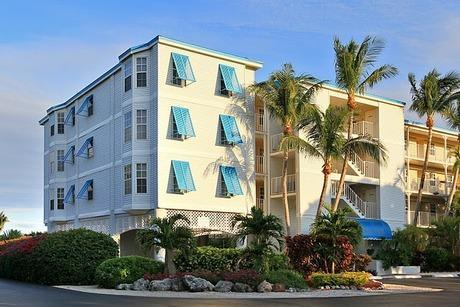 Typical tropical condo building at resort