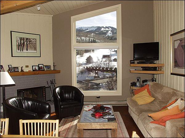 Living room with views of the slopes