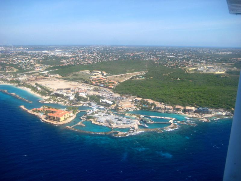 Curacao Ocean Resort and Curacao Sea Aquarium from the air