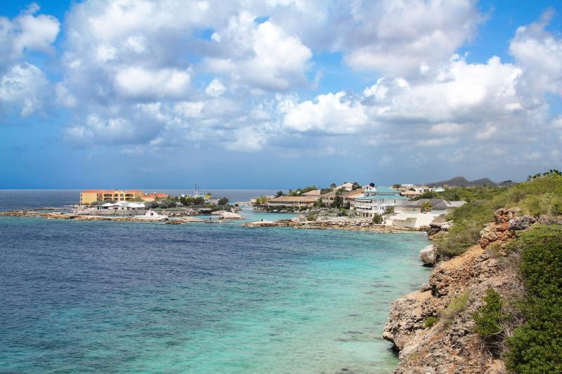 Curacao Ocean Resort - taken from a hiking path to Jan Thiel