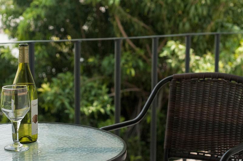 Terrasse dans l'appartement de « Roms »