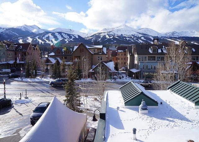 View from Balcony, Panorama Alpine, Breckenridge Lodging