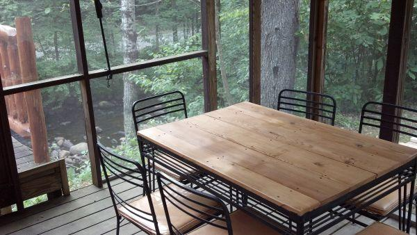 Screened-In Porch Overlooking Stream