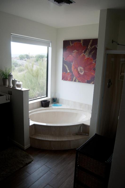 Master Bath Spa Tub with View of Mountains