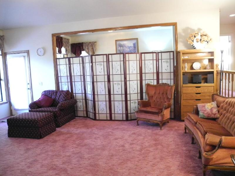 Privacy Screens set in front of the den