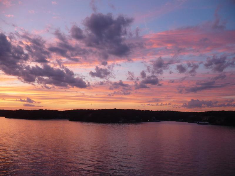 An awesome sunset at the Lake of the Ozarks