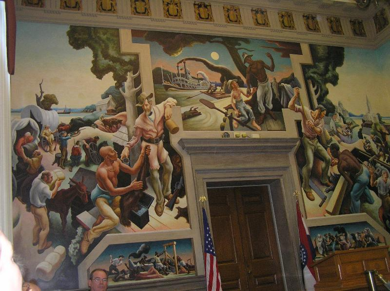 Mural in the Missouri state capitol - Jefferson City is 40 miles from Osage Beach