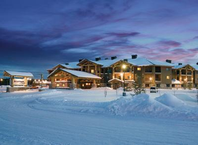 Il resort in inverno