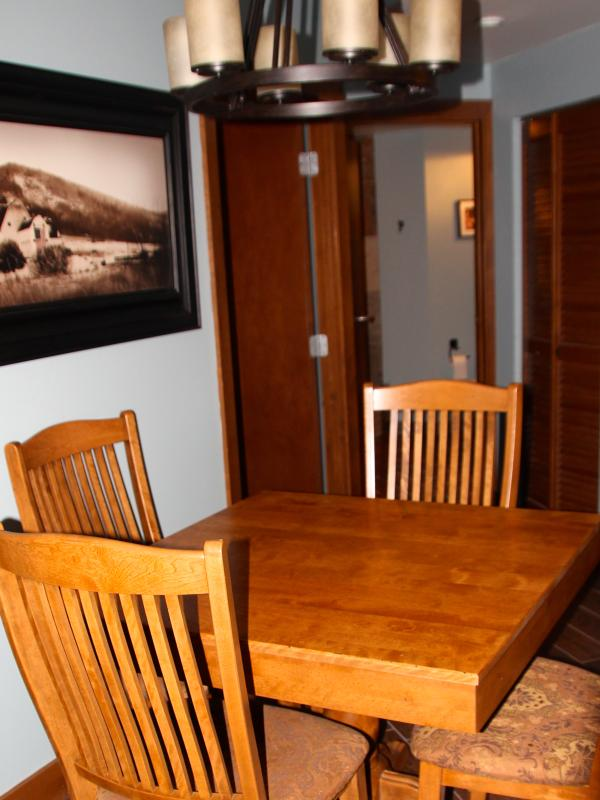 Dining area - great for family game night