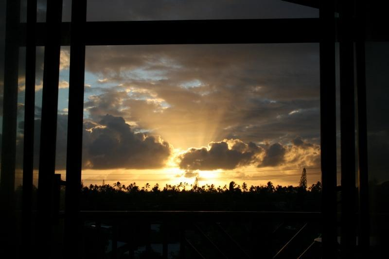 lanai at sunrise
