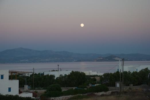 Full moon at Kallisti Villas