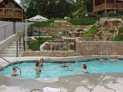 Resort seasonal pool just across the street