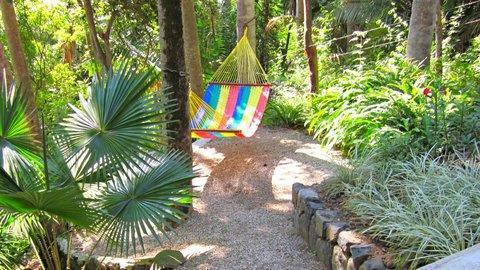 But it is even more peaceful to stretch out in the hammock and rock yourself to nirvana.
