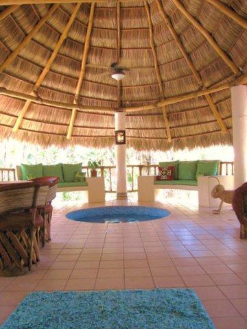CASITA CELESTIA with Palapa, pool, and placed n a tropical paradise designed by a master gardiner.