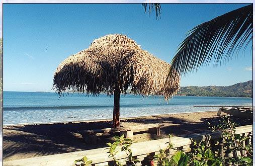 Rancho on beach by day provide shade and by night a party place to hang out at