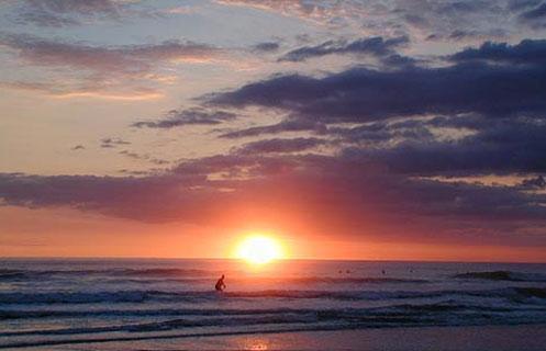 Sunset at Playa Grande