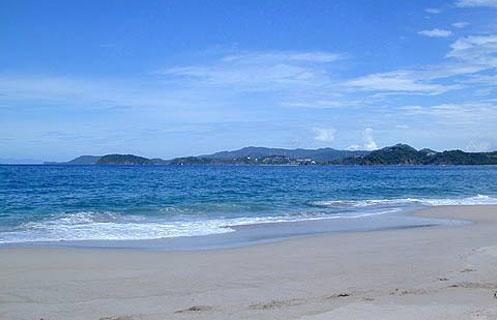 This is the main beach at Playa Brasilito, looking north toward Flamingo Point