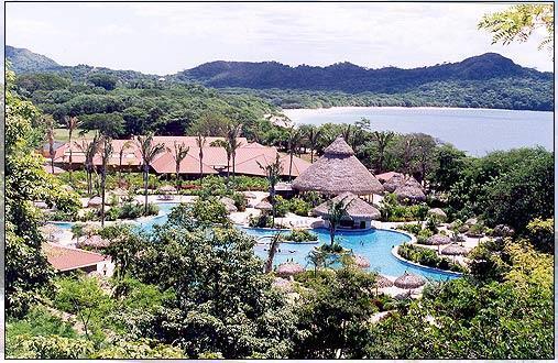 Overview of nearby Melia Conchal Resort, which is five minutes away from our house. The pool at center is the largest swimming pool in Central America. It also boasts a golf course and some great night life. There is also a rental car agency nearby