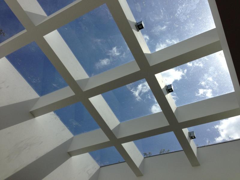 Light floods in skylight
