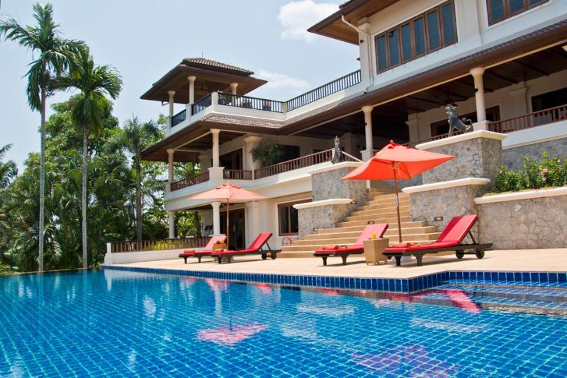 Villa Oriole - Rear View and Pool Terrace - Luxury 6-bed Villa in Layan Phuket