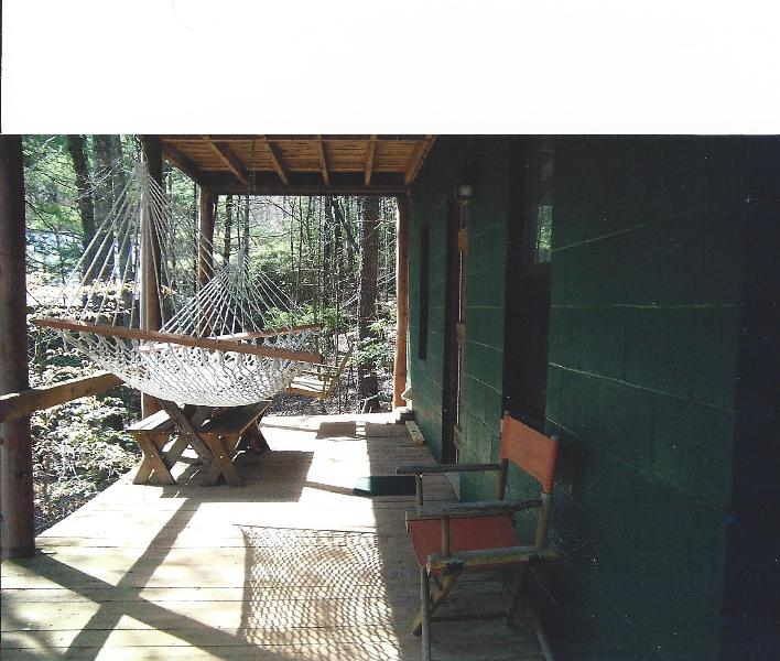 Lower deck with hammock and swing