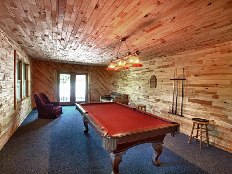 Gameroom con tavolo da biliardo