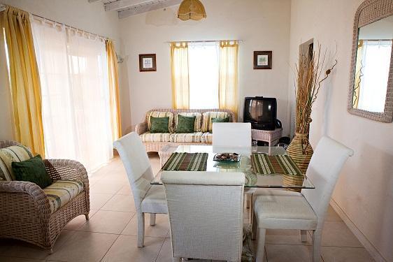 The elegantly styled dining area.