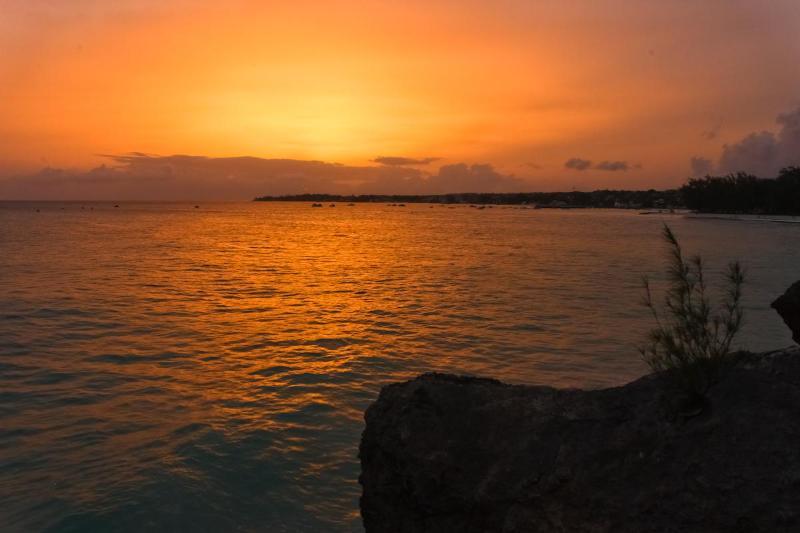 A golden sunset over Miami Beach.